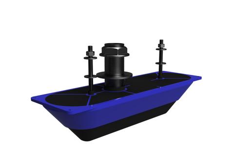 Датчик Lowrance StructureScan 3D Transducer Stainless Steel Thru-Hull Single