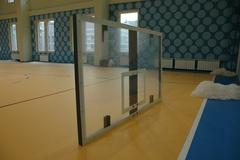 Щит баскетбольный игровой, оргстекло 10мм 1800х1050мм, на металлической раме.