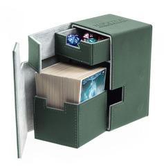Ultimate Guard - Кожаная зеленая коробочка с отделением для кубиков на 100+ карт