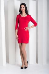 Рубина. Практичное молодежное платье. Красный