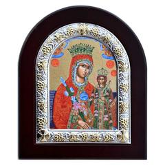 Неувядаемый (Благоуханный) цвет. Икона Божьей матери в серебряной раме.