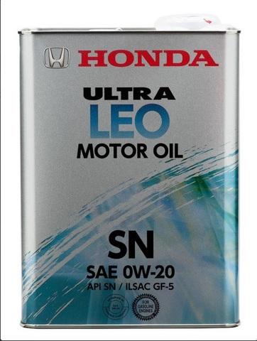 HONDA ULTRA LEO 0W20 SN Масло моторное синт. (железо/Япония)