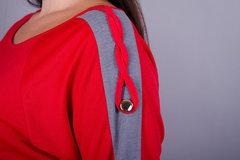 Инесса. Повседневное женское платье плюс сайз. Красный.