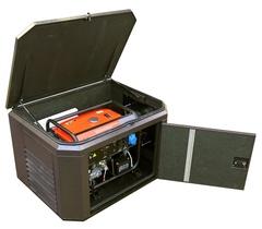Готовый комплект аварийного питания на 6 кВт бензиновый генератор FUBAG BS6600A ES в еврокожухе SB1200 с АВР (блоком автоматического запуска)