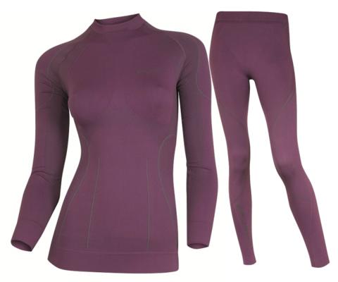 BRUBECK THERMO женский комплект термобелья фиолетовый