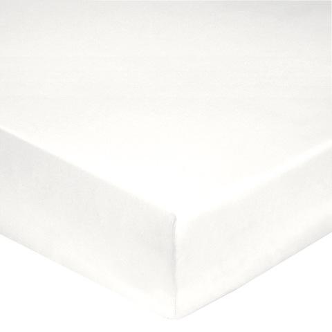 Простыня на резинке 160x200 Blanc des Vosges сатин белая