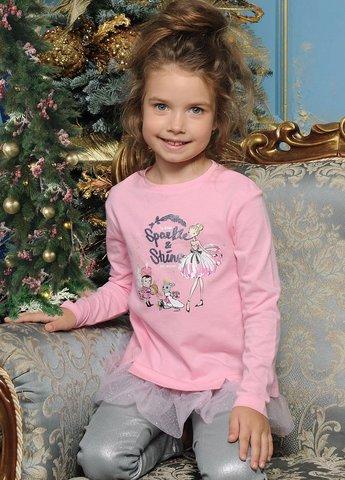 PelicanGFJ3093 Джемпер для девочек нарядный розовый