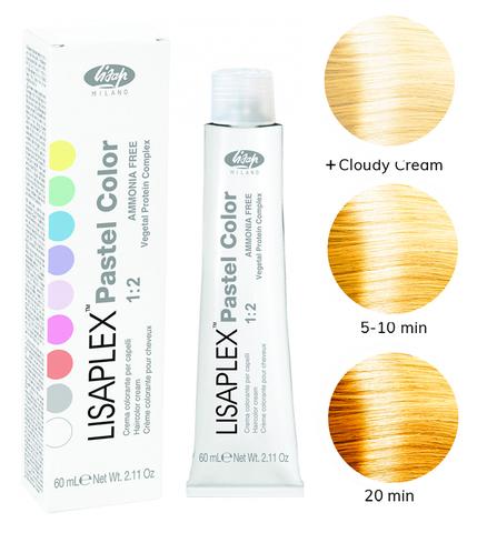 Оттенок Yellow Sunflower Желтый подсолнух Крем-краситель для волос Lisaplex Pastel Color 60мл