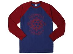30198-13 футболка муж. с длинным рук. синяя