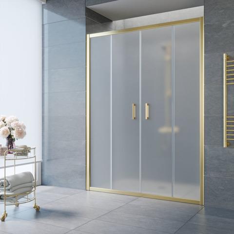Душевая дверь в нишу Vegas Glass Z2P профиль золото, стекло сатин