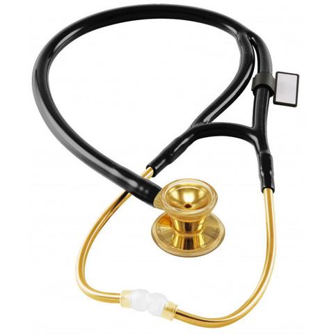 Кардиологический стетоскоп Classic Cardiology Dual Head (желтое золото)