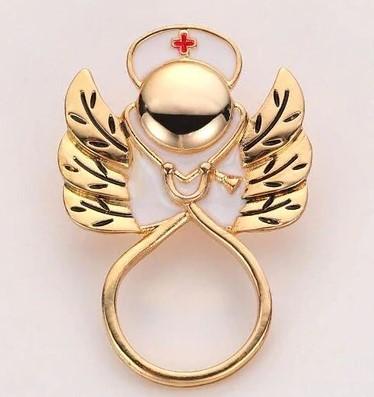 Брошь Стетоскоп с крыльями (золотой цвет)