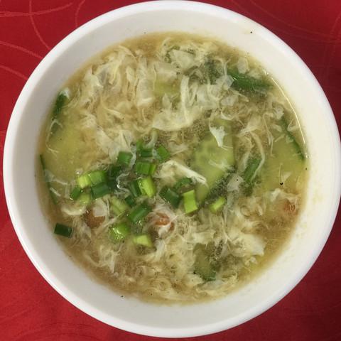 вегетарианский суп с яйцом