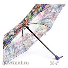 Женский зонт 4 сложения автомат Lamberti цветущий сад