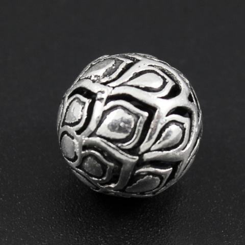 Бусина Павлин 13 мм серебро 925