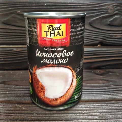 Фотография Кокосовое молоко REAL THAI 85% мякоти, 400 мл купить в магазине Афлора