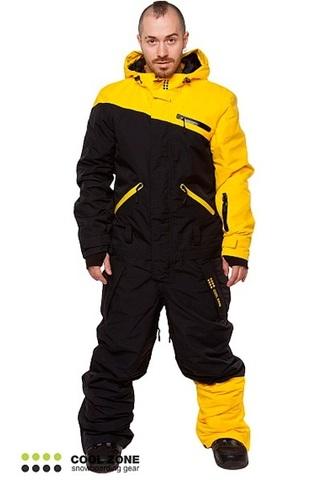 Сноубордический комбинезон мужской Cool Zone желтый-черный