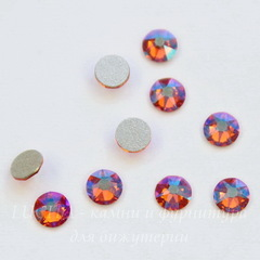 2088 Стразы Сваровски холодной фиксации Tangerine Shimmer ss12 (3,0-3,2 мм), 10 штук