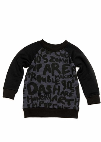 SWEATSHIRT NAVY WRITING