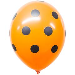 Воздушный шар оранжевый с черным «Горохом»