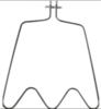 Нижний тэн духовки Whirlpool (Вирпул) - 481225998421