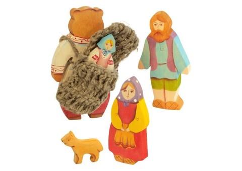 Маша и медведь (5 фигур) Сказки дерева