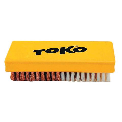 щетка Toko ручная, комбинированная, нейлон + медь, 14 мм