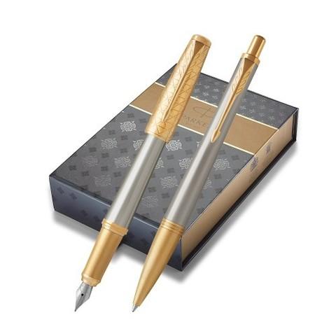 Подарочный набор с чехлом: Перьевая и Шариковая ручки Parker  Urban Premium Aureate Powder GT123