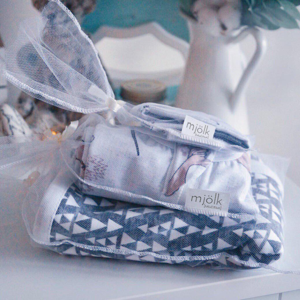 Сет из 3х муслиновых салфеток Mjölk  Кактусы