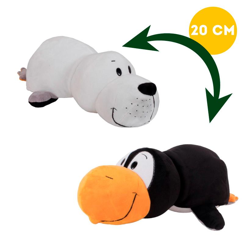 Вывернушка 2в1 Тюлень-Пингвин, 20 см - Вывернушки, артикул: 963256
