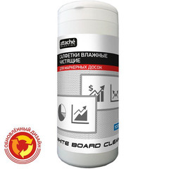 Салфетки для маркерных досок PROMEGA OFFICE  White Board Clean  влаж