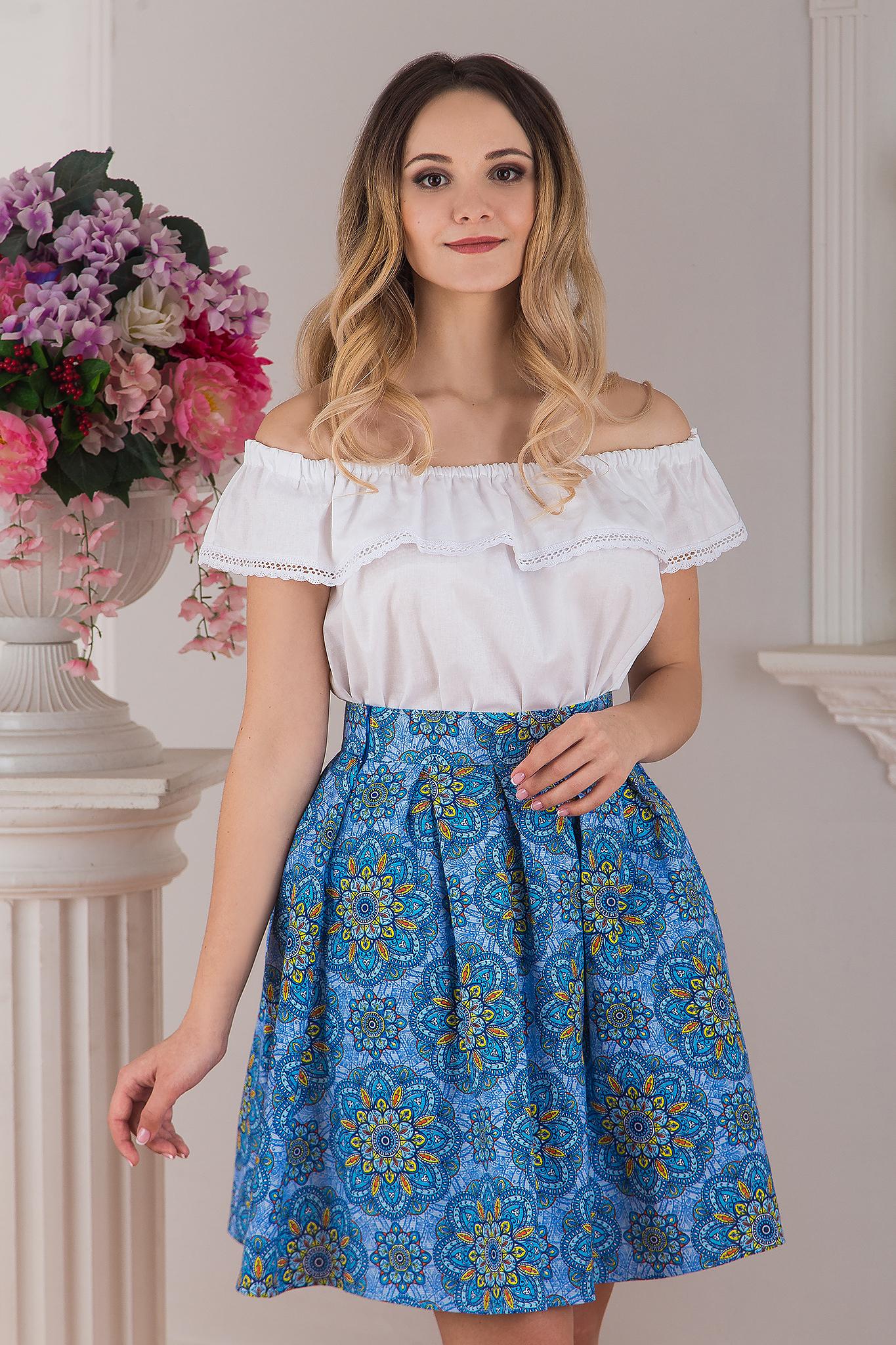 Блуза Милица с юбкой
