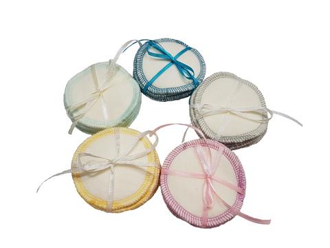 Многоразовые ватные диски цветные