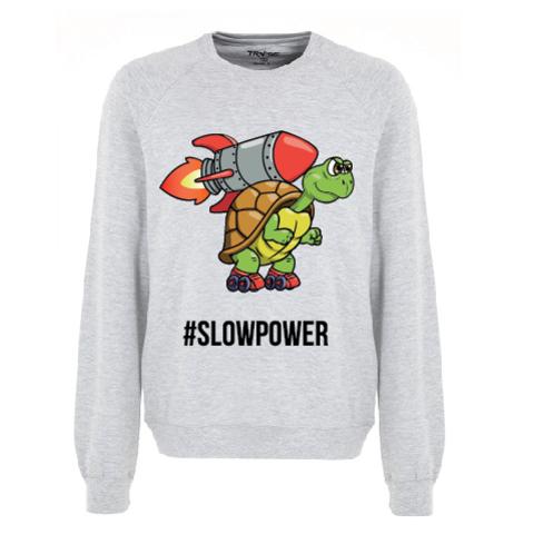 Свитшот Slowpower, серый