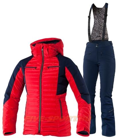 Женский горнолыжный костюм Charlie Red Poppy утепленный