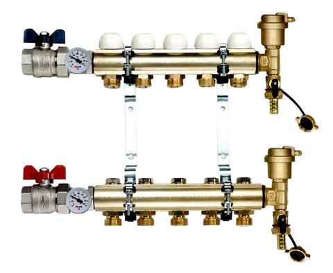 Коллектор Tiemme 1х3/4 ЕК-4 (на четыре контура) для радиаторного отопления