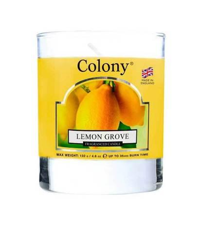 Свеча ароматическая в стеклянной банке Лимонный сад, Wax Lyrical