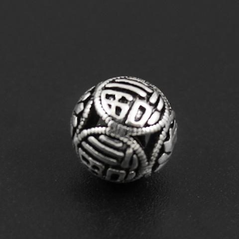 Бусина Пекин 10 мм серебро 925