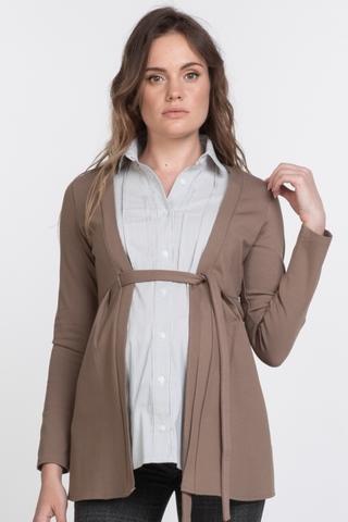 Блузка для беременных 11391 коричневый