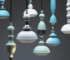 Benben Lamp Collection ( blue )