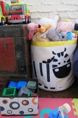 Корзина для игрушек 3 Sprouts Серый енот