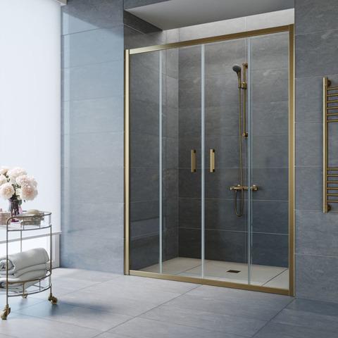 Душевая дверь в нишу Vegas Glass Z2P профиль бронза, стекло прозрачное