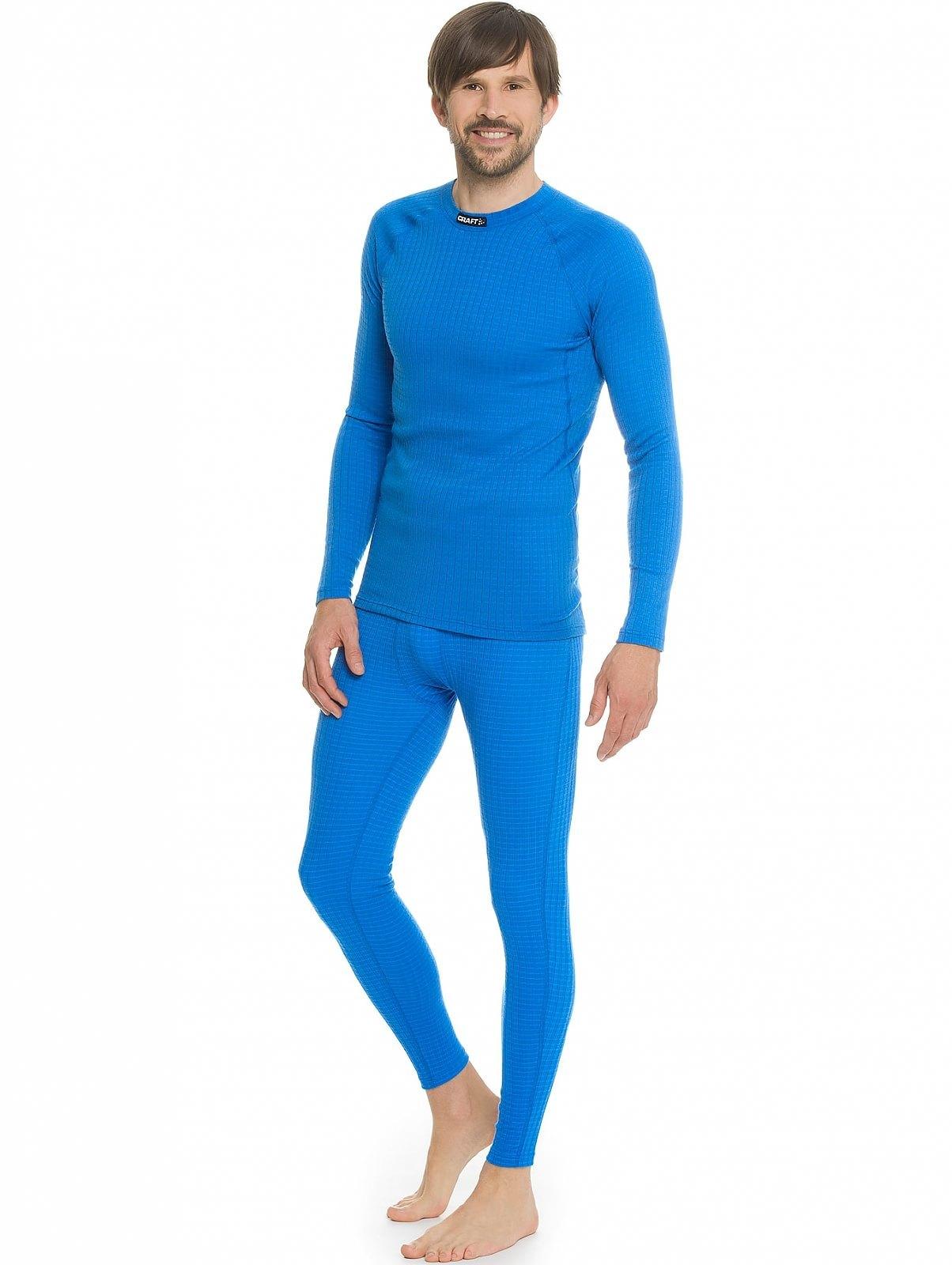 Мужская терморубашка крафт Warm Wool Black blue (1903726-1336)