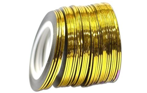 Лента самоклеющаяся глянец золото 1мм