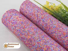 Глиттер конфетный мультиколор морковно-голубой (ОПТ)