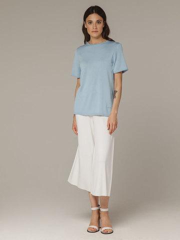 Light blue female jumper made of silk and viscose - фото 3