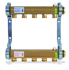 Коллектор Watts HKV/A-4 (на четыре контура) для радиаторного отопления