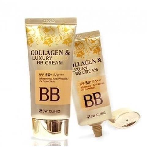3W Clinic Крем BB с коллаген/золото Collagen & Luxury Gold, 50 мл