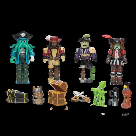 Набор фигурок Роблокс Пираты-Капитаны - Roblox Mix & Match Pirate Showdown, Jazwares