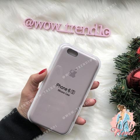 Чехол iPhone 6/6s Silicone Case /lavender/ лаванда original quality